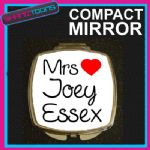 LOVE JOEY ESSEX MRS COMPACT LADIES METAL HANDBAG GIFT MIRROR